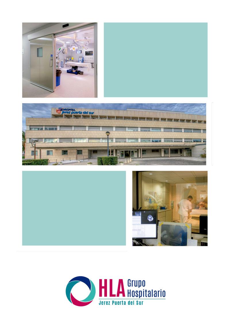Portada del catálogo de servicios del hospital HLA Jerez Puerta del Sur