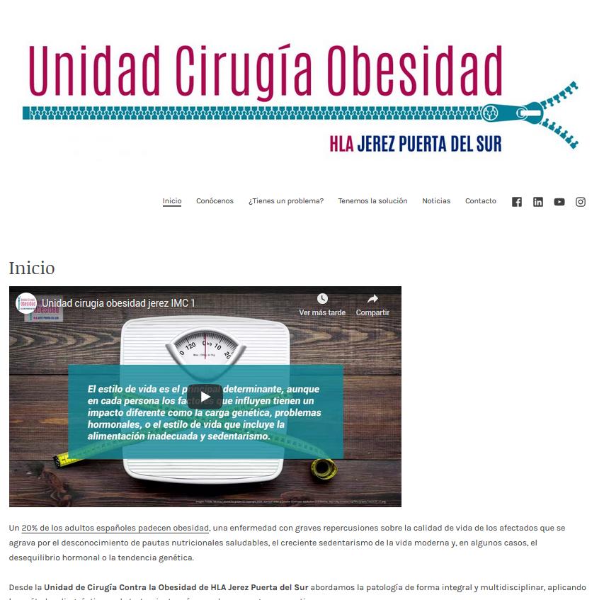 Home web Unidad Cirugía Contra la Obesidad