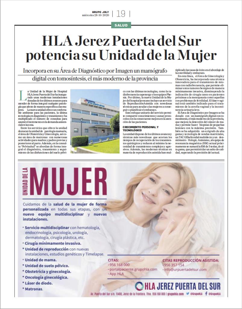 Especial Unidad de la Mujer hospital HLA Jerez Puerta del Sur